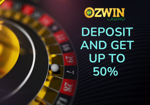 The welcome package at Ozwin Casino